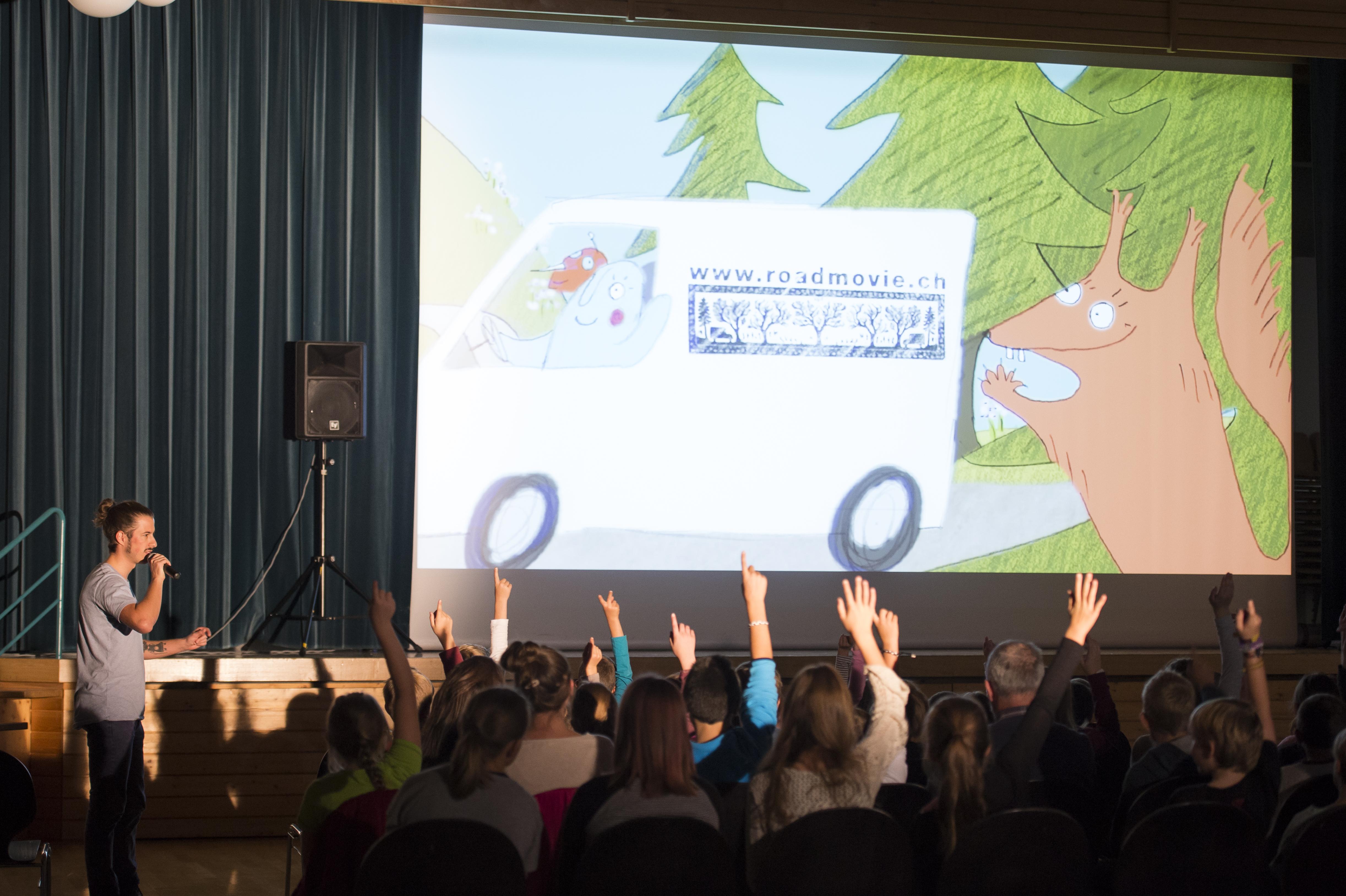 Schulprogramm in Hasliberg BE (© Roadmovie / Foto Ruedi Flück)