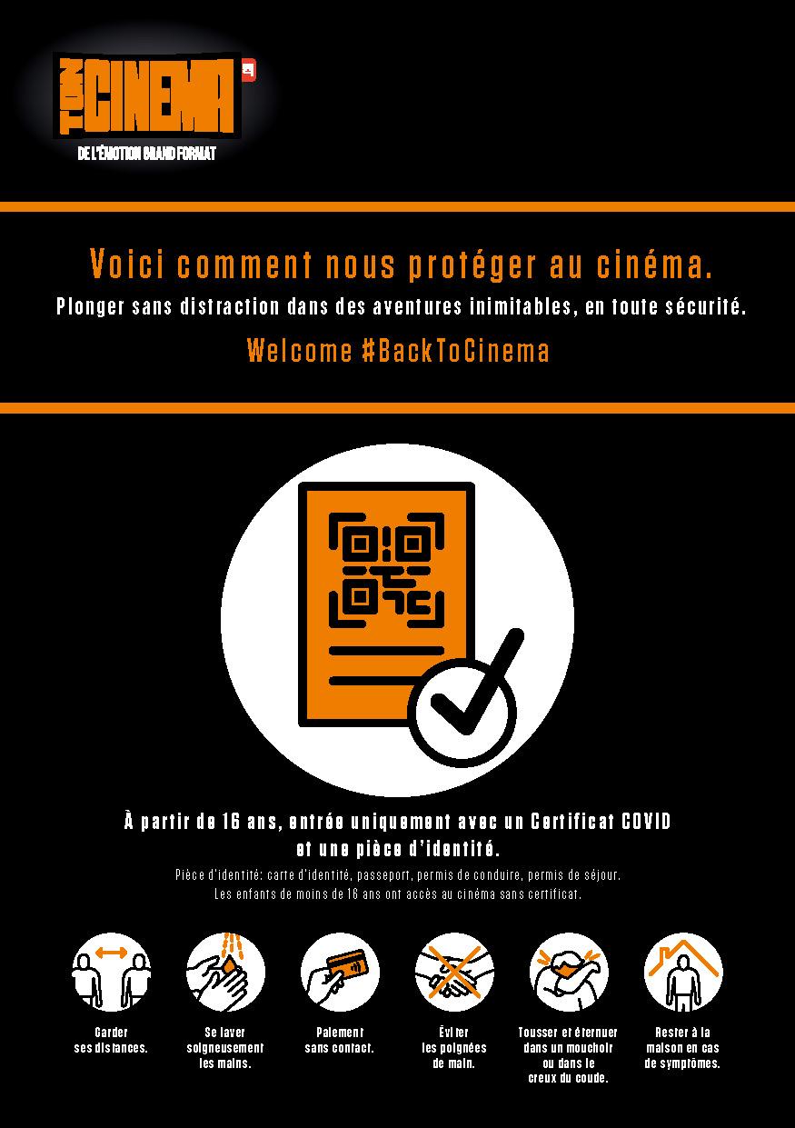 BackToCinema Affiche COVID Mesures Protection A5 FR