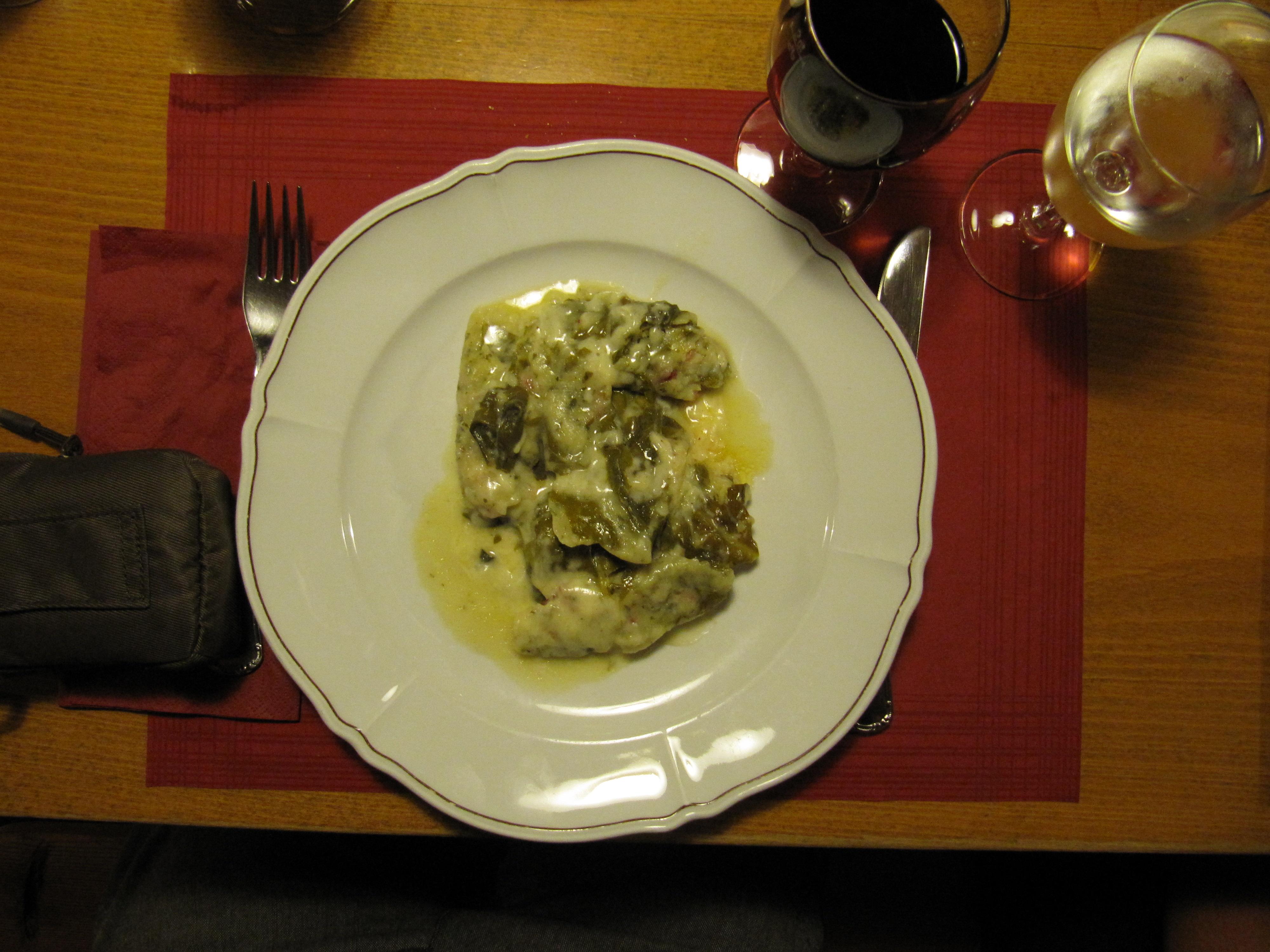Abendessen in Stierva GR
