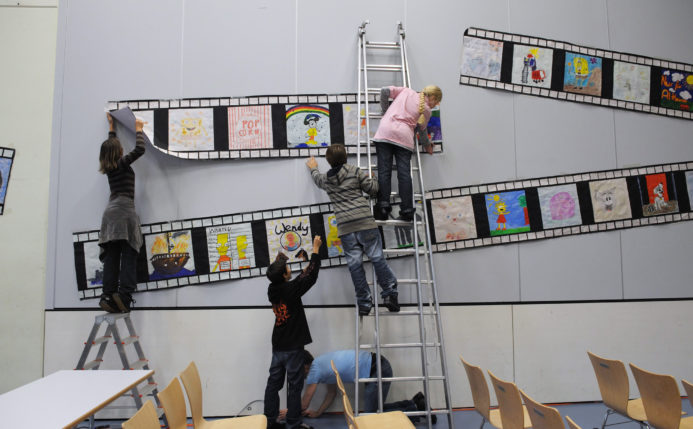 Schulvorführung in Altbüron LU (© Roadmovie / Foto Ruedi Flück)